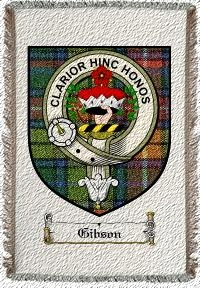 Gibson Clan Badge Throw Blanket