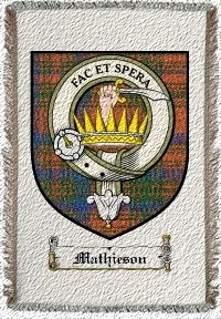 Mathieson Clan Badge Throw Blanket