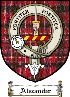 Alexander Clan Macdonald Clan Badge / Tartan FREE preview