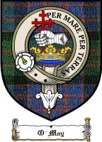 O'may Clan Sutherland Clan Badge / Tartan FREE preview