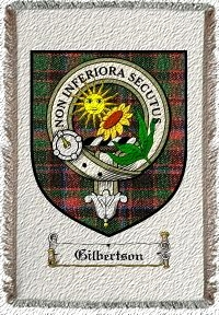 Gilbertson Clan Badge Throw Blanket