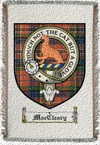 Maccleary Clan Macpherson Clan Badge Throw Blanket