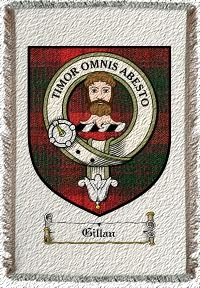 Gillan Clan Macnab Clan Badge Throw Blanket