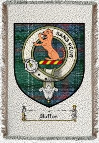 Duffus Clan Badge Throw Blanket