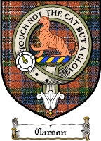 Carson Clan Badge / Tartan FREE preview