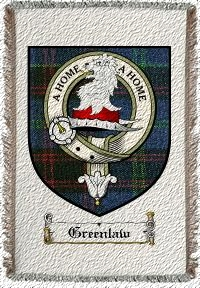 Greenlaw Clan Badge Throw Blanket