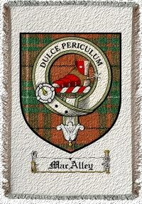 Macalley Clan Badge Throw Blanket