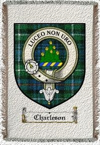 Charleson Clan Badge Throw Blanket