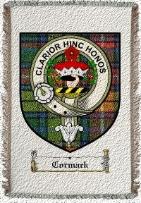 Cormack Clan Badge Throw Blanket