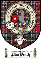 Macbeath Clan Macdonald Clan Badge / Tartan FREE preview