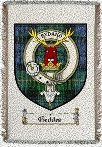 Geddes Clan Badge Throw Blanket