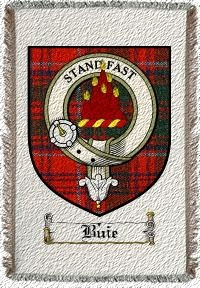 Buie Clan Badge Throw Blanket