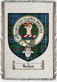 Inches Clan Badge Throw Blanket