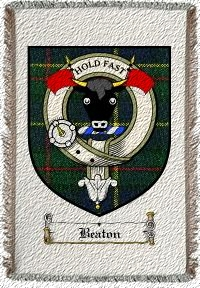 Beaton Clan Macleod Clan Badge Throw Blanket