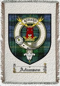 Adamson Clan Badge Throw Blanket