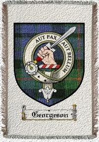 Georgeson Clan Badge Throw Blanket
