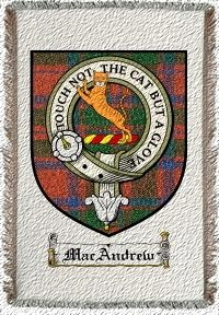 Macandrew Clan Mackintosh Clan Badge Throw Blanket