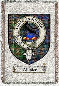 Allister Clan Macdonnell Clan Badge Throw Blanket