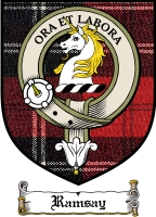 Ramsay Clan Badge / Tartan FREE preview