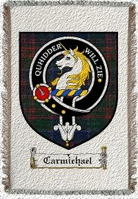 Carmichael Clan Stewart Appin Clan Badge Throw Blanket