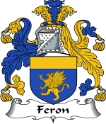 Feron Family Crest / Feron Coat of Arms JPG Download