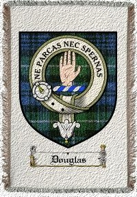 Douglas Clan Lamont Clan Badge Throw Blanket