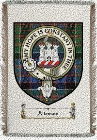 Allanson Clan Macdonald Clanranald Clan Badge Throw Blanket