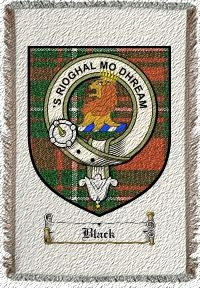 Black Clan Macgregor Clan Badge Throw Blanket