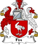 Fin Family Crest / Fin Coat of Arms JPG Download