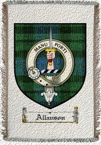 Allanson Clan Mackay Clan Badge Throw Blanket
