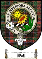 Watt Clan Forbes Clan Badge / Tartan FREE preview