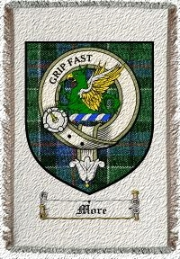 More Clan Leslie Clan Badge Throw Blanket