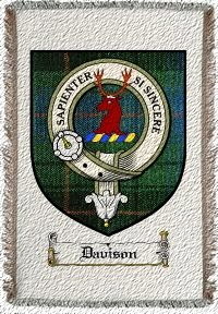 Davison Clan Badge Throw Blanket