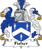 Fisher Family Crest / Fisher Coat of Arms JPG Download