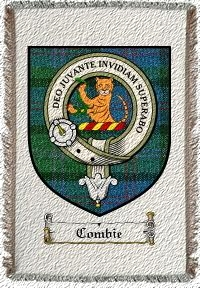 Combie Clan Macthomas Clan Badge Throw Blanket