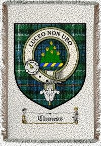Cluness Clan Badge Throw Blanket