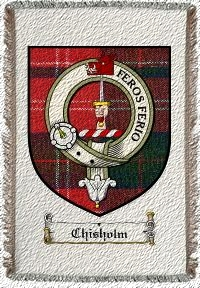 Chisholm Clan Badge Throw Blanket