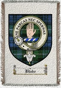 Blake Clan Badge Throw Blanket