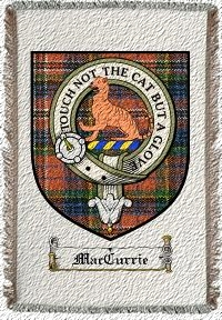 Maccurrie Clan Macpherson Clan Badge Throw Blanket