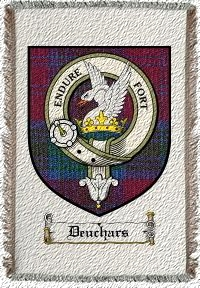 Deuchars Clan Badge Throw Blanket