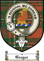 Gregor Clan Badge / Tartan FREE preview