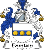 Fountain Family Crest / Fountain Coat of Arms JPG Download