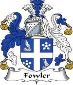 Fowler Family Crest / Fowler Coat of Arms JPG Download