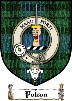 Polson Clan Badge / Tartan FREE preview