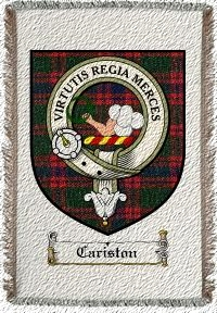 Cariston Clan Badge Throw Blanket
