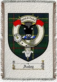 Aulay Clan Badge Throw Blanket