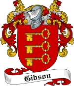 Gibson Family Crest / Gibson Coat of Arms JPG Download