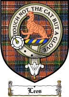 Lees Clan Badge / Tartan FREE preview