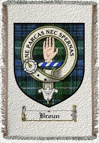 Broun Clan Badge Throw Blanket