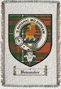 Bowmaker Clan Badge Throw Blanket